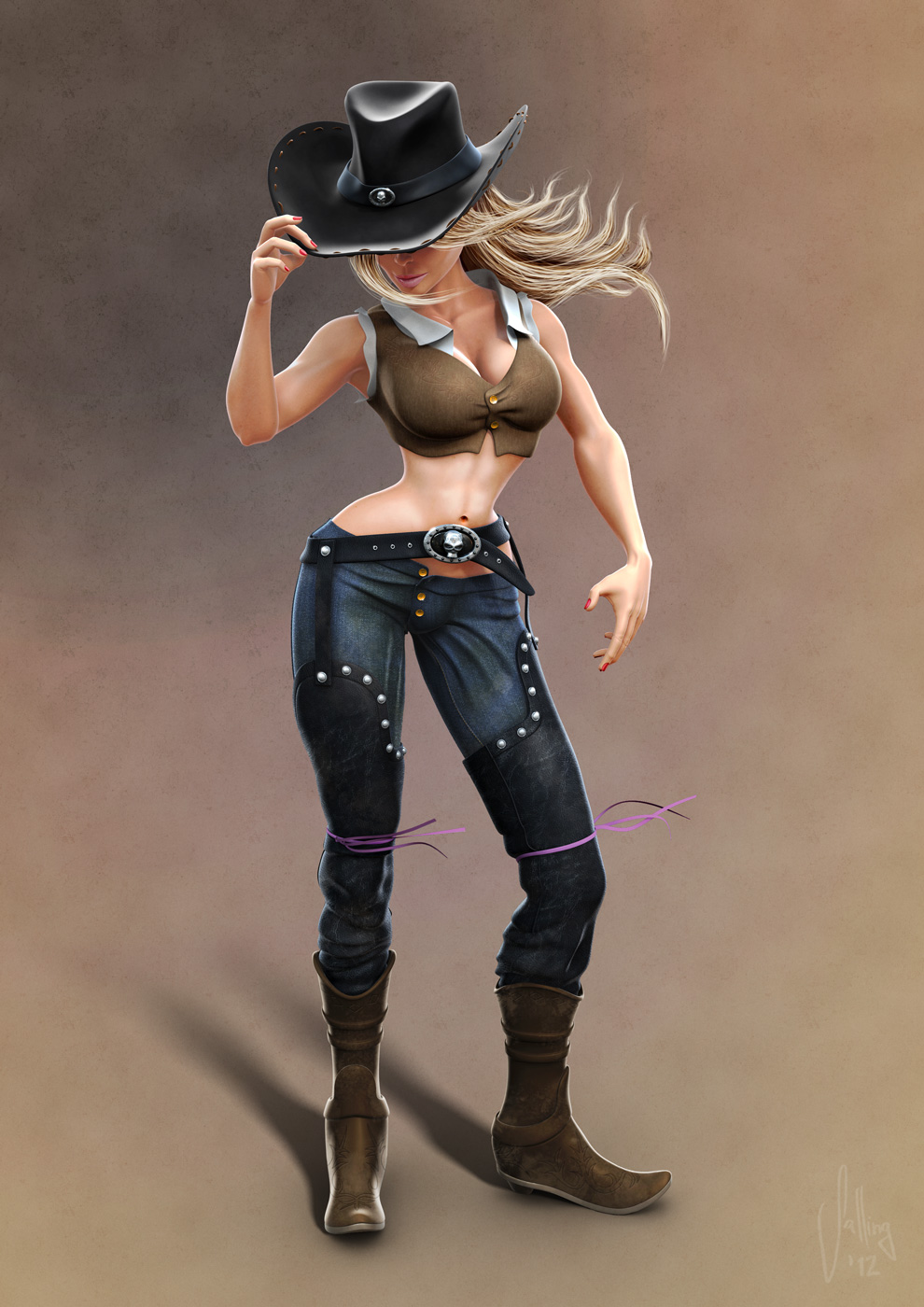 3D_Cowgirl