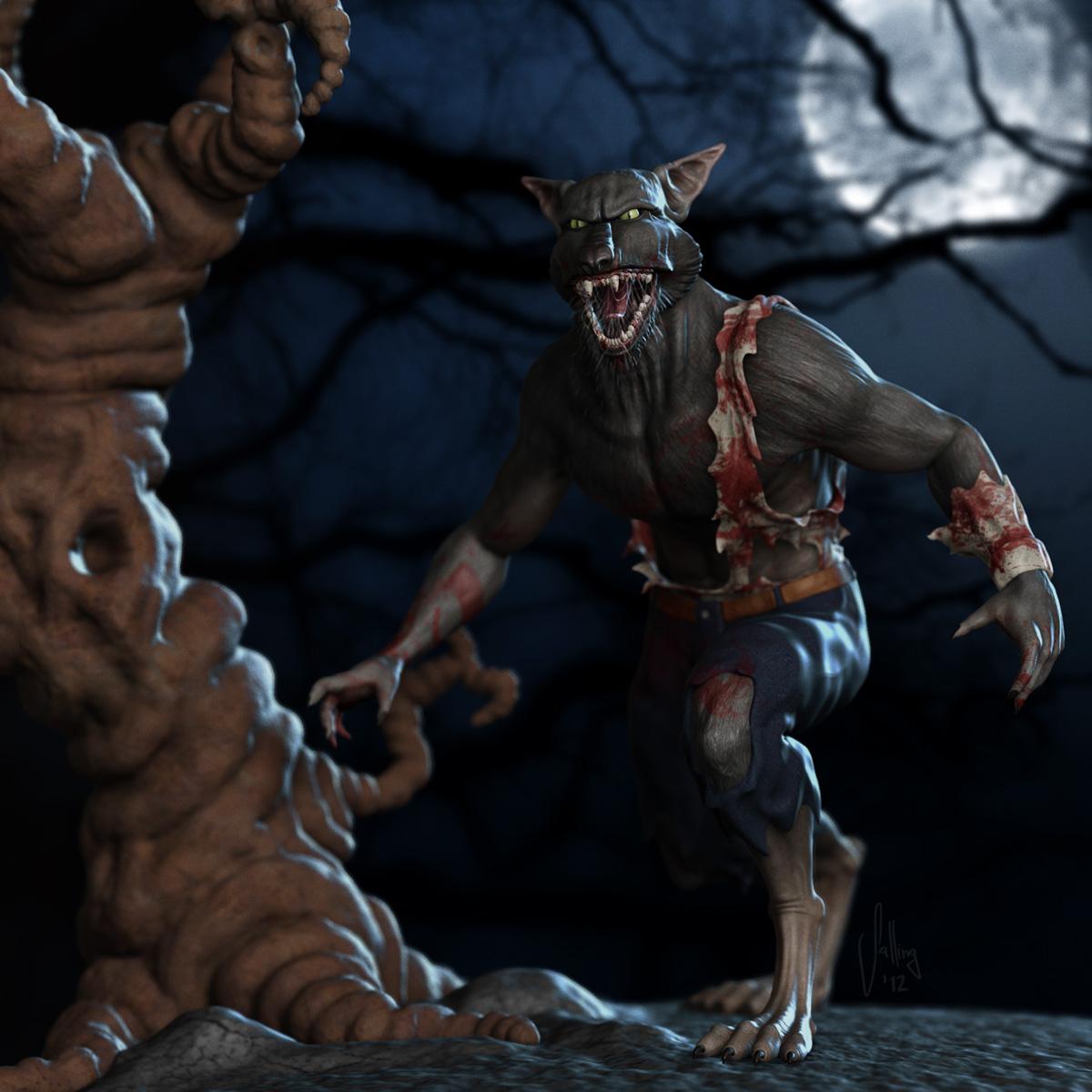 3D_Werewolf